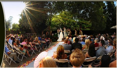 Outdoor Wedding Lake Natoma Inn