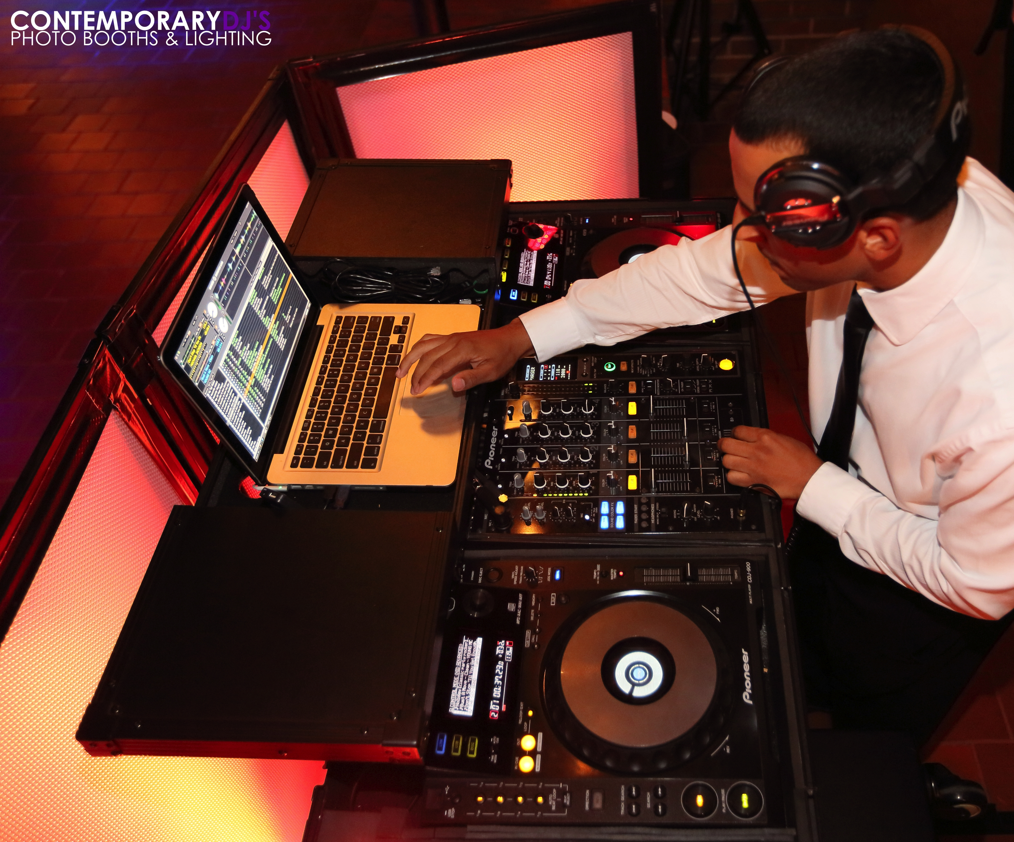 Contemporary DJs Photo Booths & Lighting