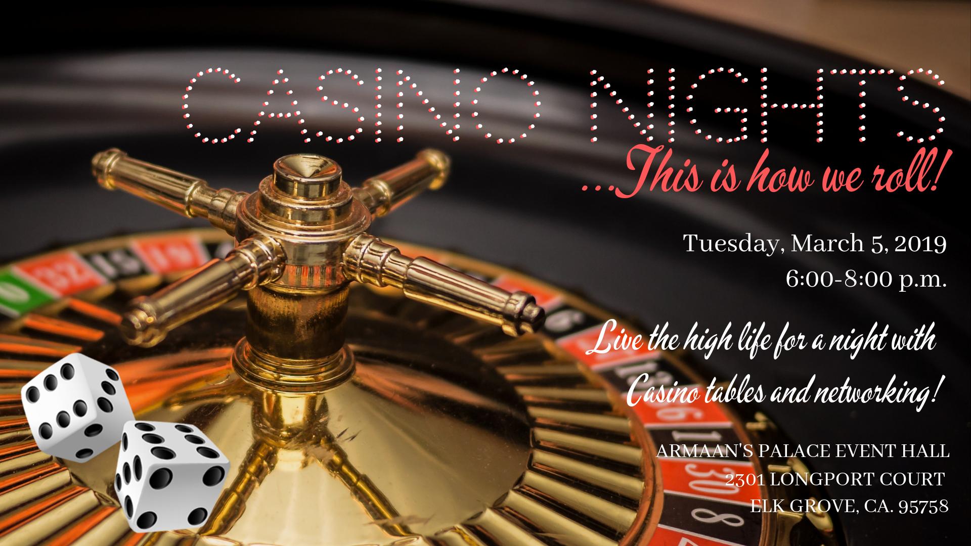 Casino Nights wedding professional networking mixer