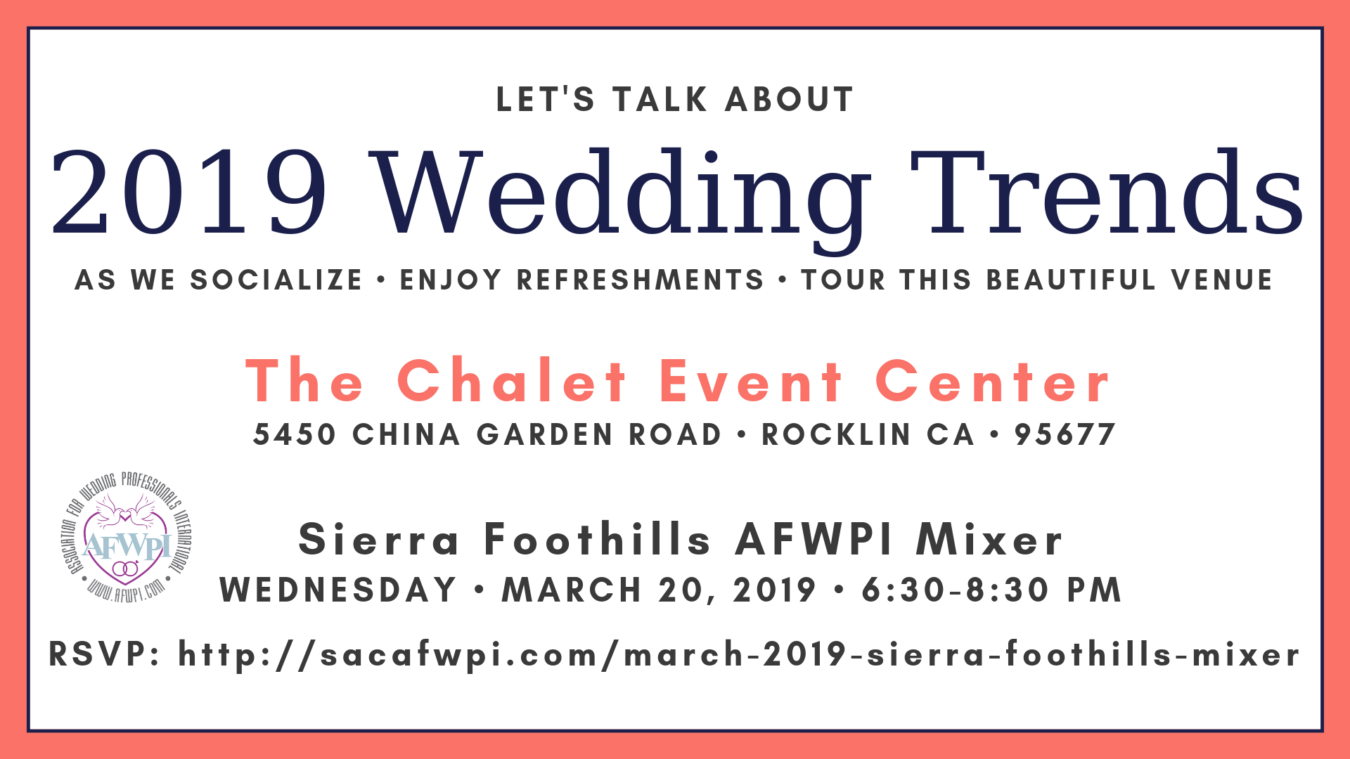 2019 Wedding Trends Placer wedding pros networking mixer