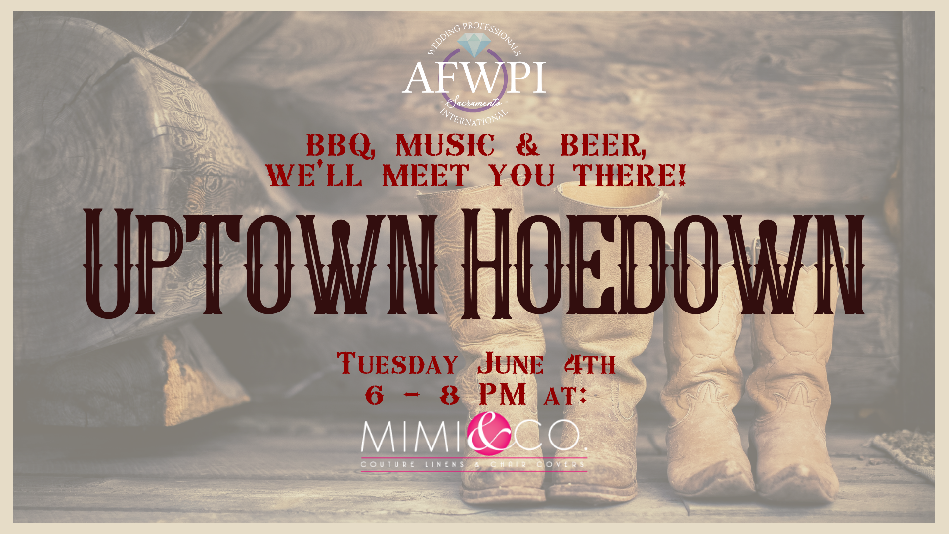 Uptown Hoedown wedding professional networking mixer